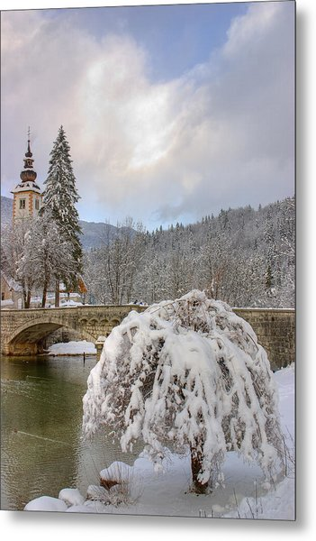 Alpine Winter Beauty Metal Print