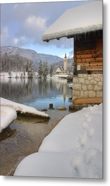 Alpine Winter Clarity Metal Print