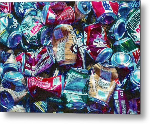 Aluminum Cans - Recyclables Metal Print by Steve Ohlsen