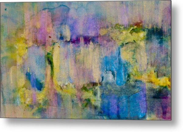 An Iridescent Oil Slick  Metal Print by Don  Wright