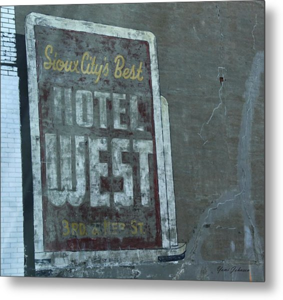 An Old Sign Metal Print