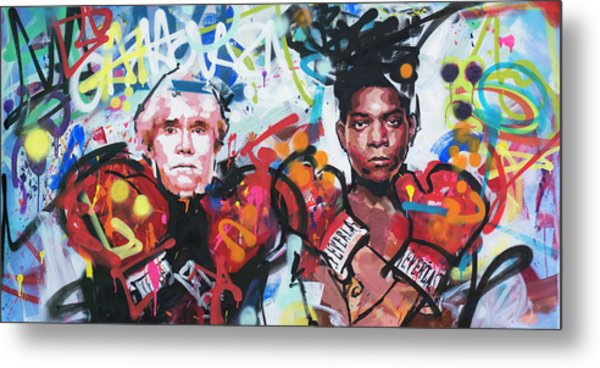 Andy Warhol And Jean-michel Basquiat Metal Print