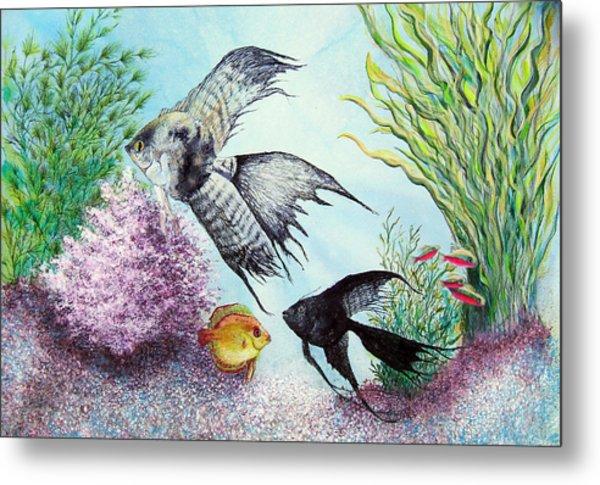 Angel Fish Metal Print by JoLyn Holladay