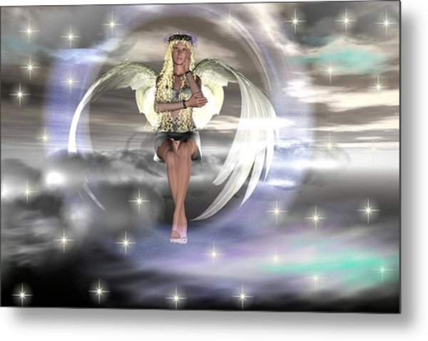 Angel On A Cloud Metal Print by Eva Thomas