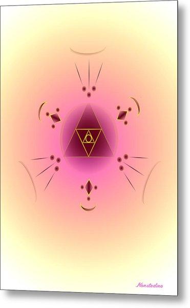 Angelic Code - Psychic Vision Metal Print by Konstadina Sadoriniou - Adhen