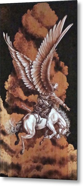 Angelic Saddle Bronc Metal Print by Jerrywayne Anderson
