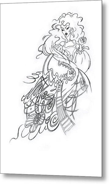 Angry Fairy Metal Print by Agnese Kurzemniece