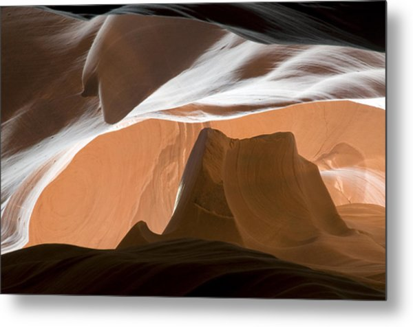 Antelope Canyon Desert Abstract Metal Print