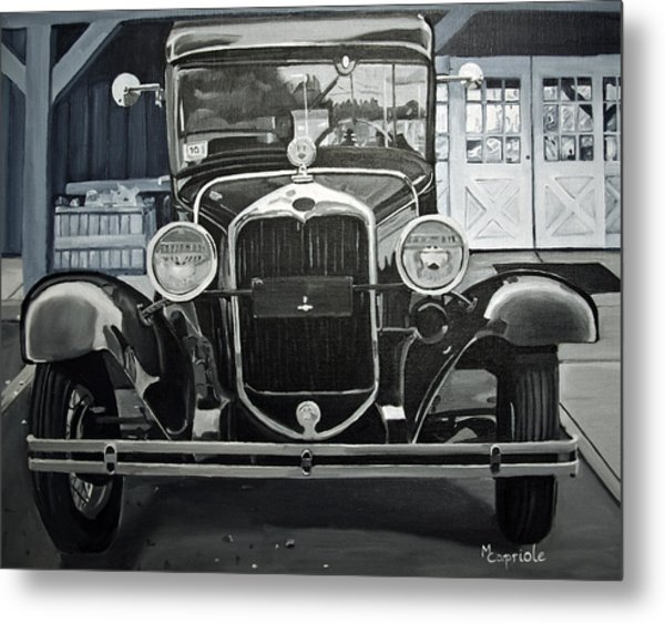 Antique At Mann's Metal Print by Mary Capriole