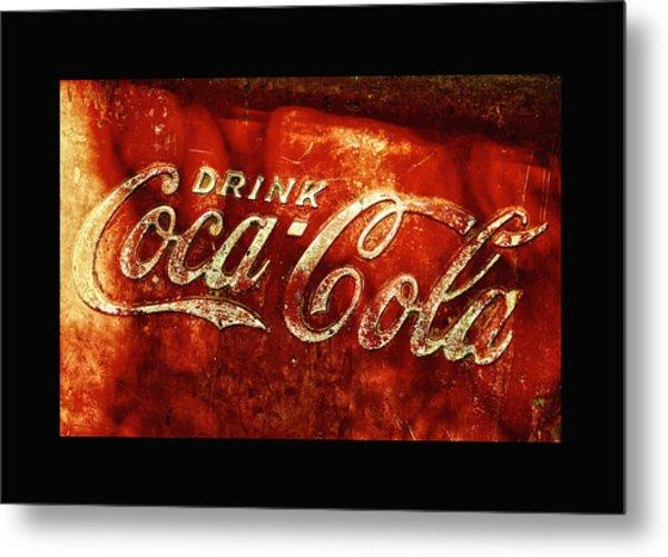 Antique Coca-cola Cooler II Metal Print