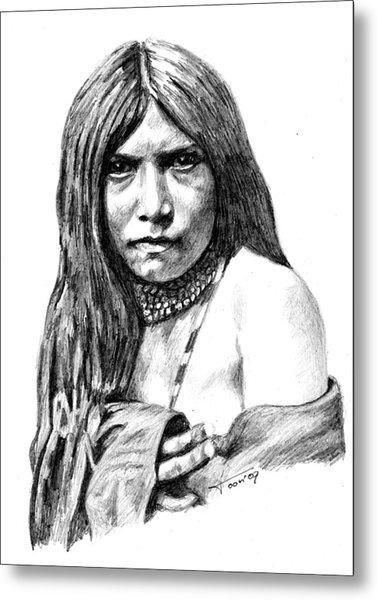 Apache Girl Zosh Clishn Metal Print