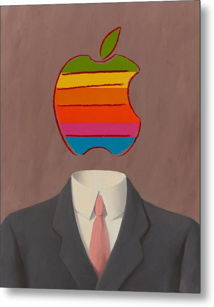 Apple-man-1 Metal Print