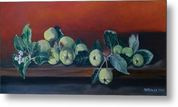 Apples From The Farm Metal Print by Bertica Garcia-Dubus