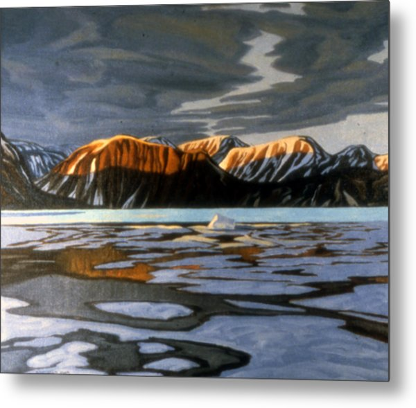 Arctic Ice Breakup Metal Print by Paul Gauthier