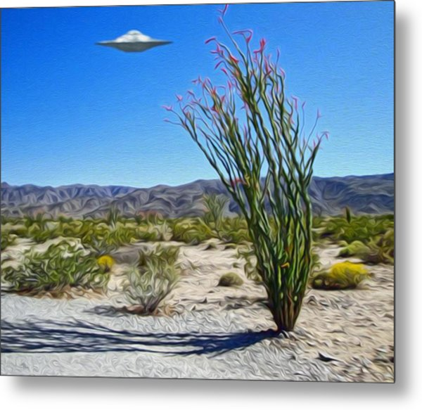 Area 51 U.f.o. Sighting  Metal Print
