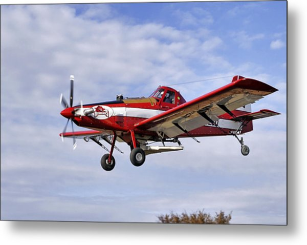 Arkansas Razorbacks Crop Duster Metal Print
