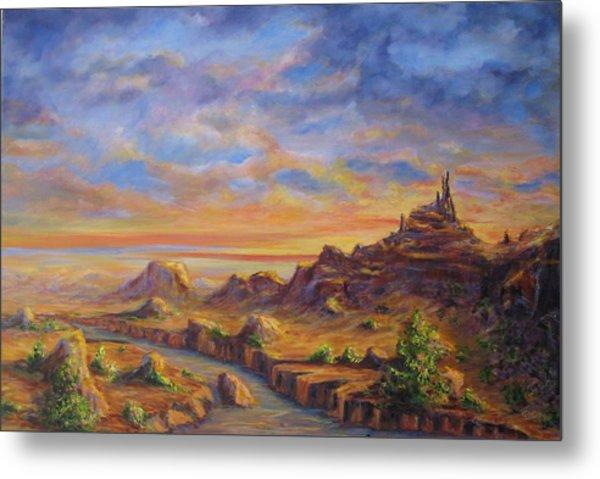 Arroyo Sunset Metal Print by Thomas Restifo