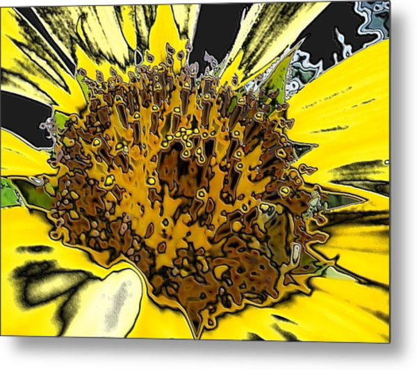 Artsy Sunflower Metal Print