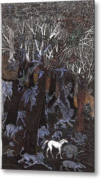 Asil In Shitaki Forest Metal Print