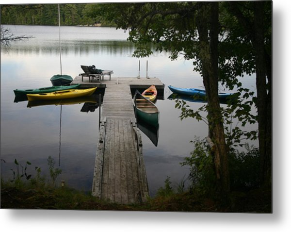 At The Country Dock Metal Print by Dennis Curry