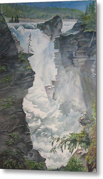 Athabasca Falls Alberta Metal Print by Debbie Homewood