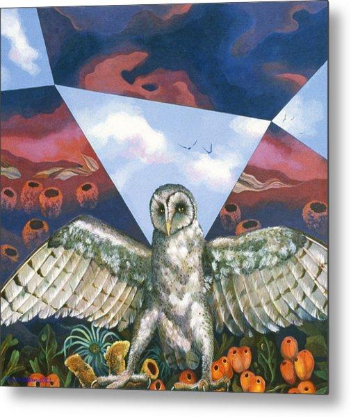 Athena's Owl Metal Print