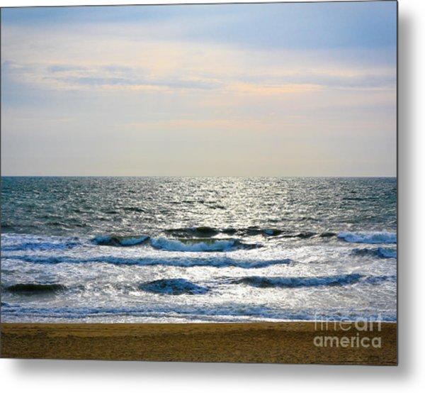 Atlantic Sunrise - Sandbridge Virginia Metal Print