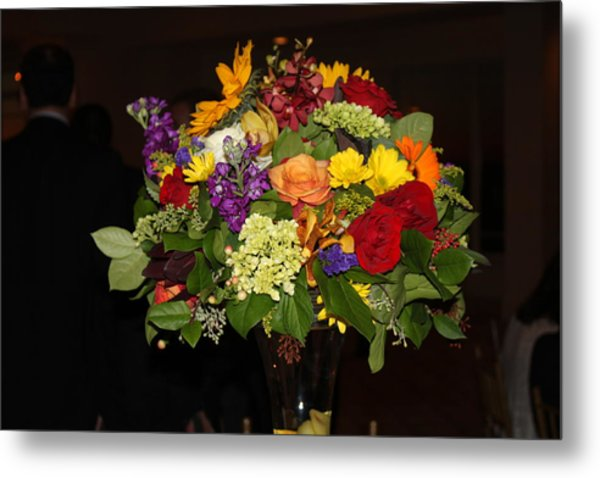 August Bouquet Metal Print by Lyn Vic