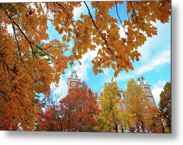 Autumn Around Old Main - University Of Arkansas - Fayetteville Metal Print