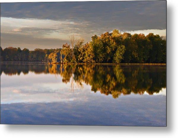 Autumn Colors On The Savannah River Metal Print by Michael Whitaker