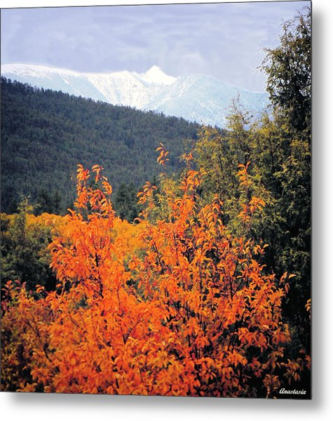 Autumn Glory And Mountain Cathedral Metal Print by Anastasia Savage Ealy