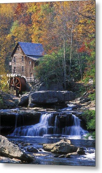 Autumn Grist Mill - Fs000141 Metal Print