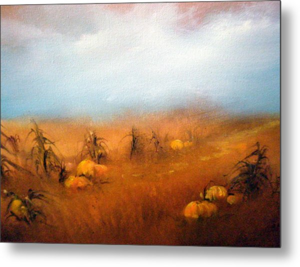 Autumn Harvest Metal Print by Sally Seago