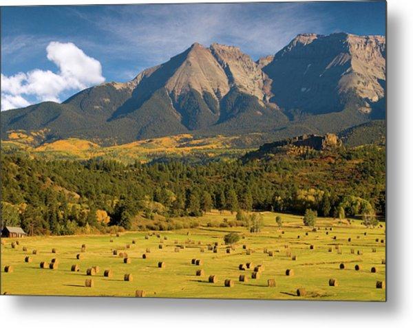 Autumn Hay In The Rockies Metal Print