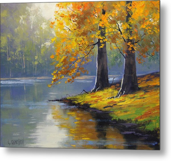 Autumn Lake Print Metal Print