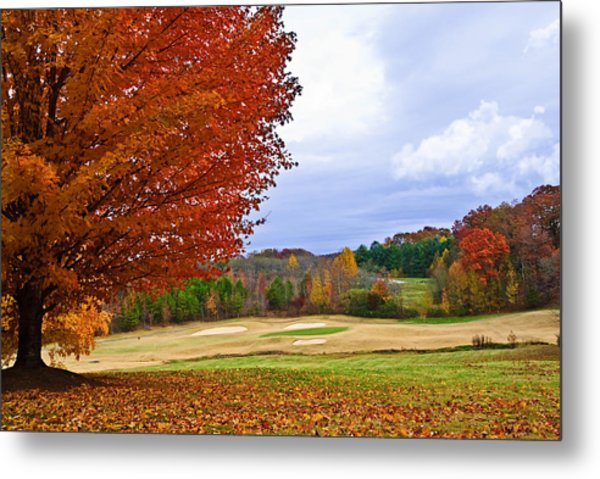 Autumn On The Golf Course Metal Print