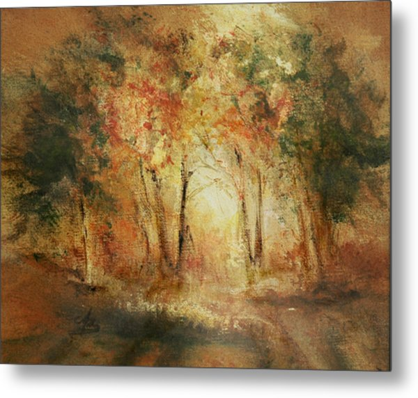 Autumn Sun Metal Print by Aneta  Berghane