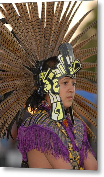 Aztec Dancer Metal Print by Dennis Hammer