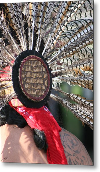 Aztec Danza 1 Metal Print by LoungeMode Productions