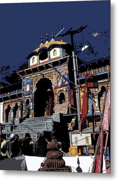 Badrinath Temple 1 Metal Print by Padamvir Singh