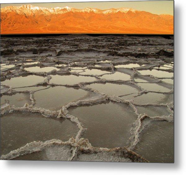 Badwater Sunrise-death Valley Metal Print
