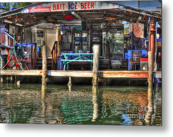 Bait Ice  Beer Shop On Bay Metal Print