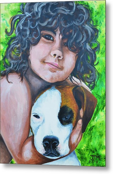 Baiya And Moja Metal Print