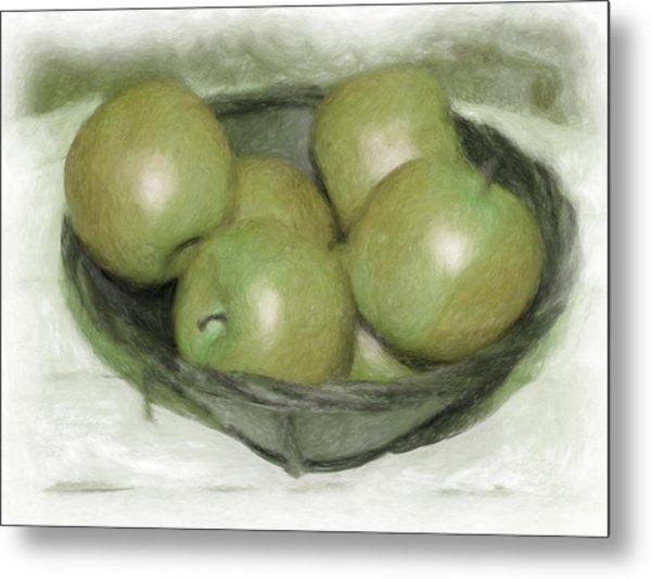 Baking Apples Metal Print by Susan  Lipschutz