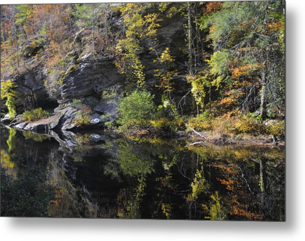 Bald River Autumn Reflection Metal Print by Darrell Young