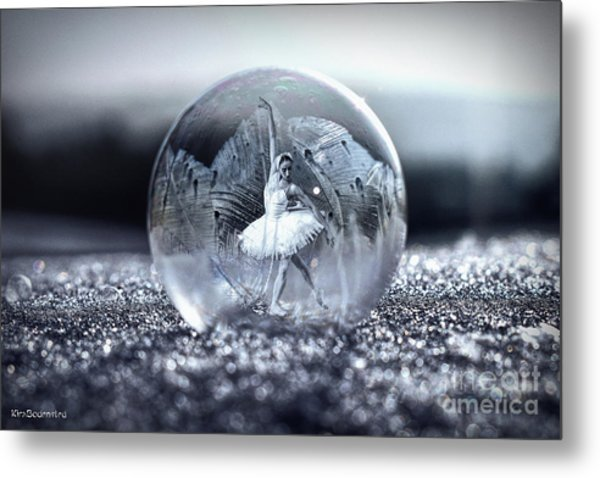 Ballet In A Bubble Metal Print