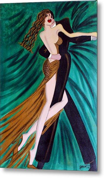 Ballroom Dancers Champagne Tango Metal Print by Helen Gerro