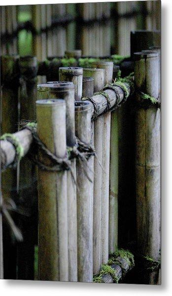 Bamboo Fence Metal Print by Samantha Kimble