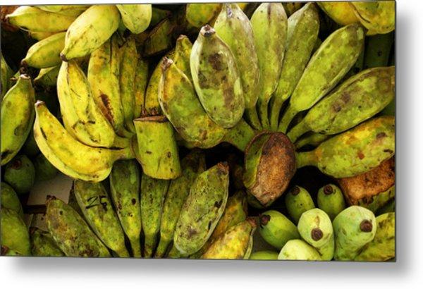 Bananas At Market Metal Print