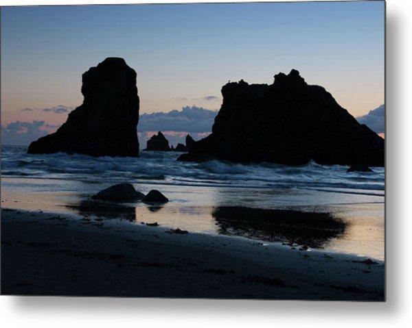 Bandon Oregon Sea Stacks Metal Print